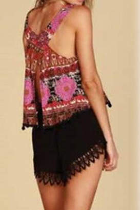 Lucy-Love Lucy Love Lace Scallop Hem Shorts
