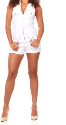 V.I.P. JEANS Women's Romper Jeans