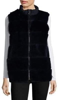 Pologeorgis Rex Rabbit Fur Puffer Vest