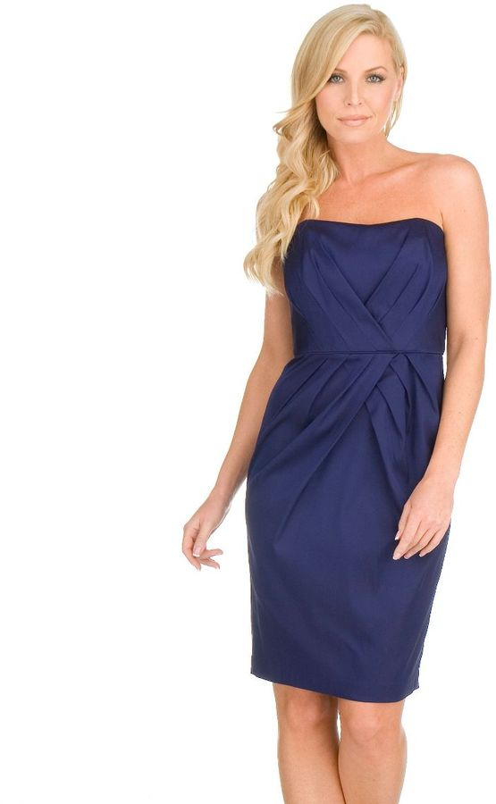 Maggy london strapless satin dress