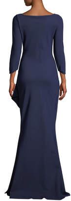 9dfbdaf8bf6da Chiara Boni Galin Mermaid Gown w  Side Drape