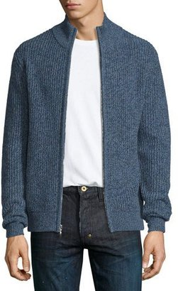 Neiman Marcus Marled Cashmere Full-Zip Bomber Cardigan $495 thestylecure.com