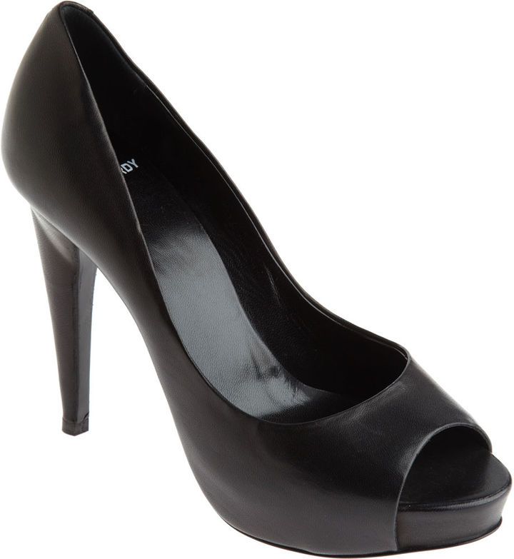 Pierre Hardy Peep Toe Pump - Black