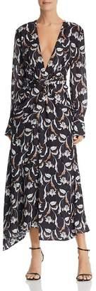 Acler Garber Floral Print Maxi Dress
