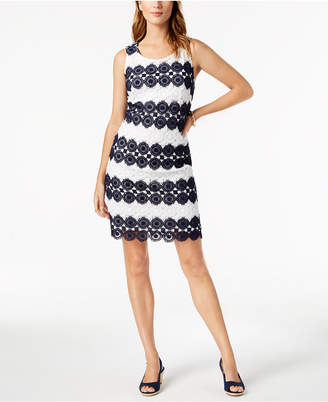 Charter Club Crochet-Lace Shift Dress