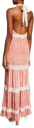 Lost + Wander Suns Out Floral Halter Maxi Dress