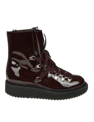 Kenzo alaska Boot In Paint Color Bordeaux