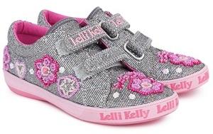 Lelli Kelly Kids Sivler Glitter Olivia Trainers