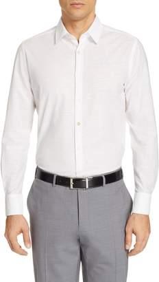Canali Classic Fit Solid Cotton & Linen Dress Shirt