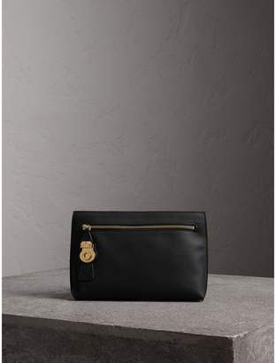 Burberry Trench Leather Wristlet Pouch
