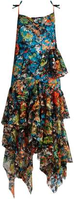 Marques Almeida MARQUES'ALMEIDA Sweetheart-neck sleeveless floral-lace dress