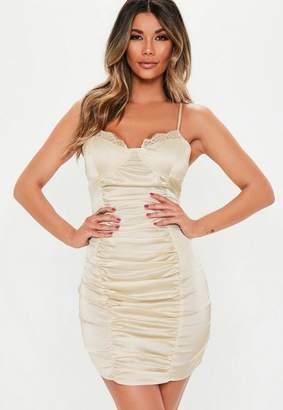 Missguided Stretch Satin Mini Dress
