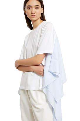 MM6 MAISON MARGIELA Basic Jersey Combo Stripey Poplin Shirt