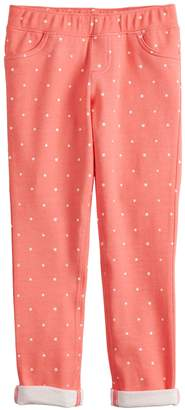 Girls 4-12 Jumping Beans Print French Terry Ankle Pants