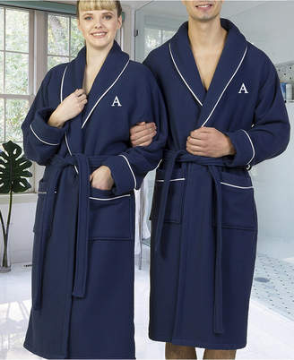 Linum Home Personalized 100% Turkish Cotton Waffle Terry Bath Robe Bedding