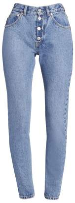 Balenciaga Tube Exposed Button-Fly Jeans