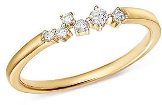 Adina 14K Yellow Gold Scattered Diamond Center Ring