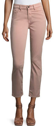 7 For All Mankind Jen7 by Brushed Sateen Skinny Ankle Jeans