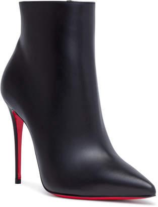 Christian Louboutin So Kate 100 Black Leather Booties