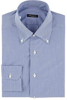Sartorio Men's Micro-Houndstooth Cotton Shirt