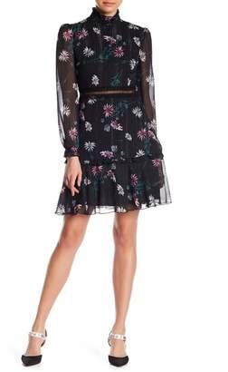 Donna Morgan Floral Sheer Fit & Flare Dress