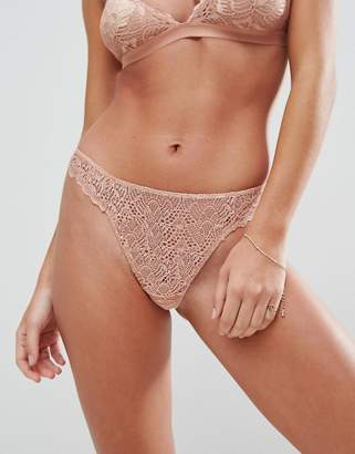 Asos DESIGN Rita basic lace mix & match thong