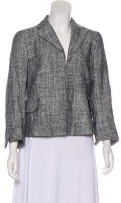 Akris Punto Silk Notched-Lapel Blazer