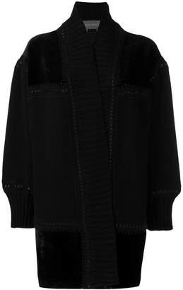 Alberta Ferretti loose fitted cardi-coat