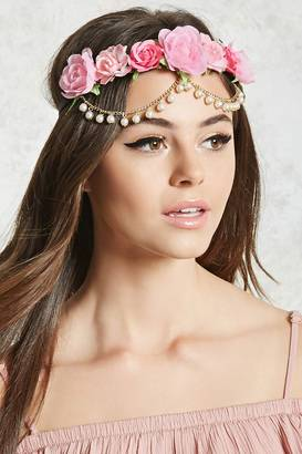 FOREVER 21+ Floral Chain Headwrap