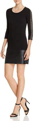 Bailey 44 Kendo Faux Leather-Hem Dress