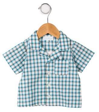 Marie Chantal Boys' Plaid Short Sleeve Shirt