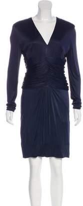 Versace Long Sleeve Knee-Length Dress
