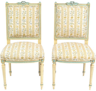 One Kings Lane Vintage 19th-C. French Louis-XVI Chairs - Set of 2 - LR Antiques