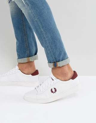 Fred Perry Spencer Mesh Sneakers in White