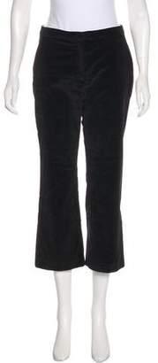 Altuzarra Velvet Mid-Rise Pants
