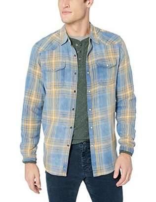 Lucky Brand Men's Long Sleeve Santa FE Western Button UP Shirt in Indigo