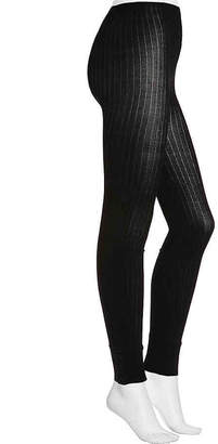 Lemon Tuxedo Stripe Ankle Snap Leggings - Women's