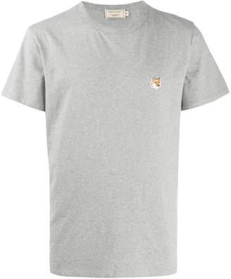 MAISON KITSUNÉ fox logo embroidered T-shirt