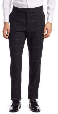 Ralph Lauren Purple Label Windowpane Wool& Cashmere Twill Pants