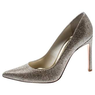 Stuart Weitzman Metallic Polyester Heels