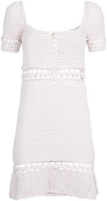 She Made Me Crochet Rose Mini Dress
