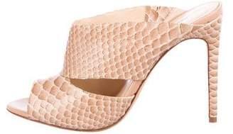 Alexandre Birman Embossed High Heel Sandals