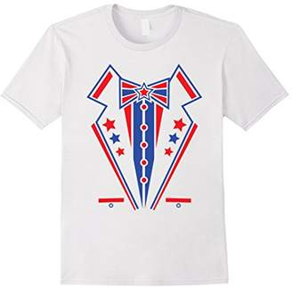 4th of July Tuxedo Red Blue Tux Party T-Shirt