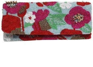 Tiana Designs Tiana Foldover Magenta Floral Clutch