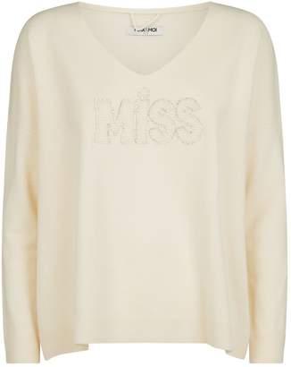 Max & Moi Miss Slogan Sweater