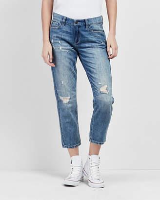 Nicole Miller Distressed Boyfriend Jeans