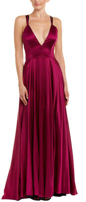 Milly Monroe Silk-Blend Gown