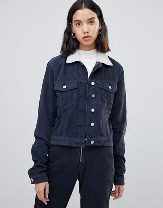FAE Corduroy two-piece trucker jacket with fleece collar