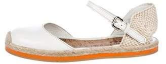 Prada Sport Girls' Patent Leather Round-Toe Flats
