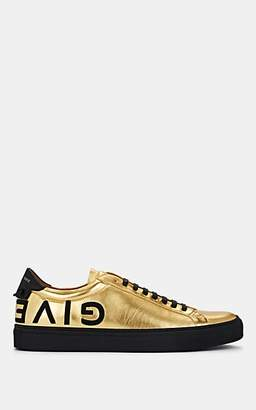 Givenchy Men's Urban Street Leather Sneakers - Gold